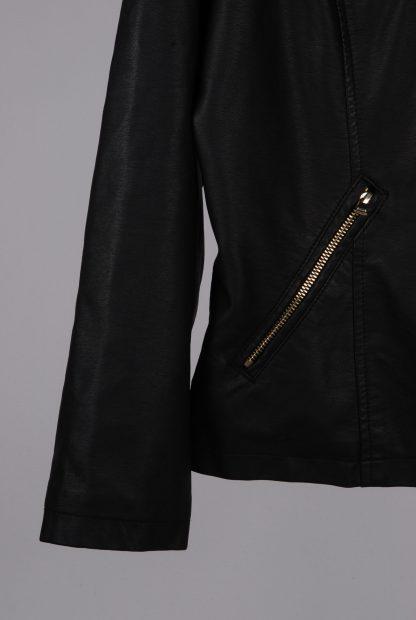 Very Black Biker Style Jacket - Size 20 - Front Hem