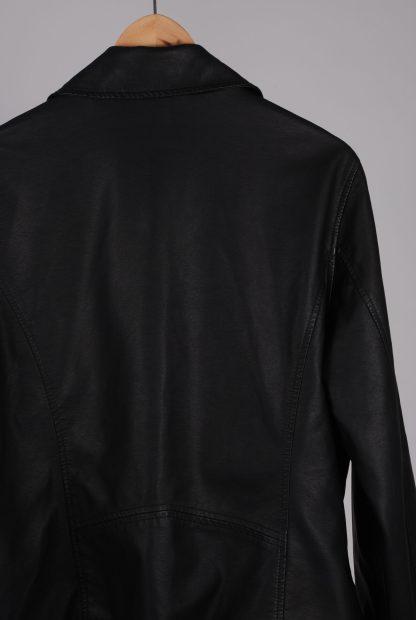Very Black Biker Style Jacket - Size 20 - Back Detail