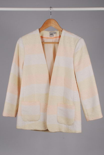 ASOS Pastel Striped Jacket - Size 10 - Front