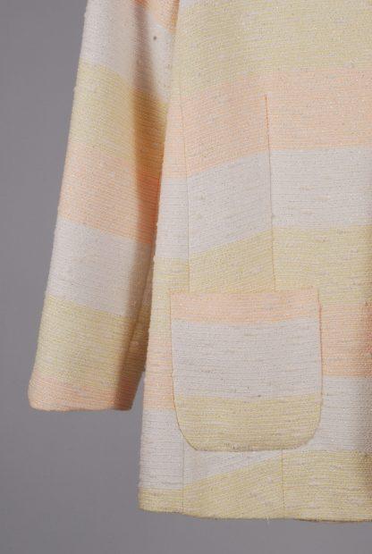 ASOS Pastel Striped Jacket - Size 10 - Front Hem