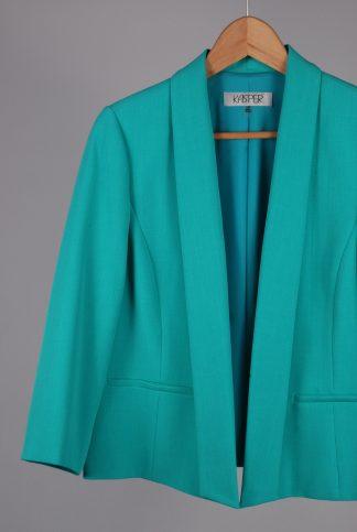 Kasper Green Blazer Jacket - Size 14 - Front Detail