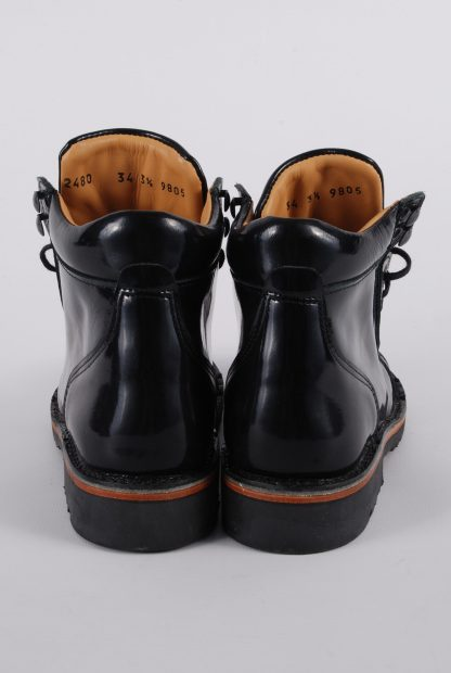 Piedro Black Patent Boots - Size 2.5 - Back