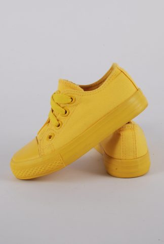 Original Marines Yellow Trainers - Size 7.5 - Side