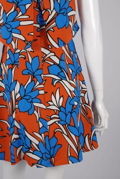 Topshop Tiered Floral Mini Dress - Size 10 - Back Detail