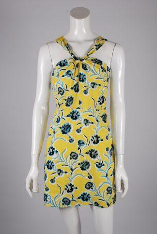 Topshop Floral Twist Mini Dress - Size 10 - Front