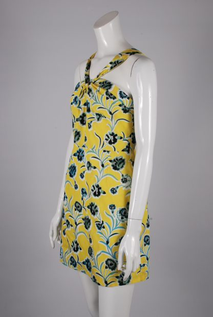Topshop Floral Twist Mini Dress - Size 10 - Side