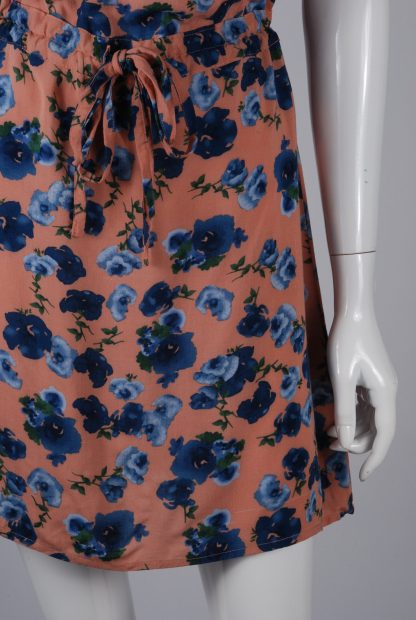 Warehouse Floral Mini Dress - Size 8 - Front Skirt