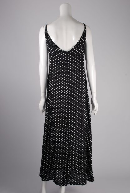 Yidarton Black & White Polka Dot Dress - Size XL - Back