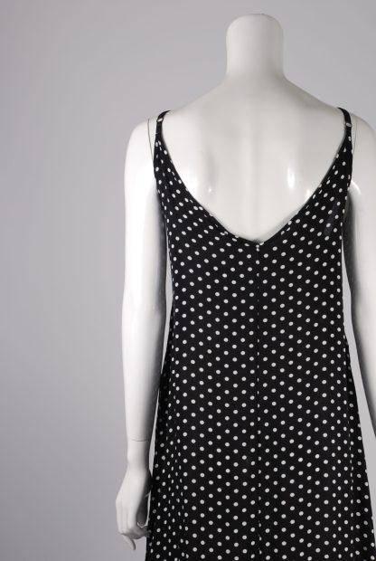 Yidarton Black & White Polka Dot Dress - Size XL - Back Detail
