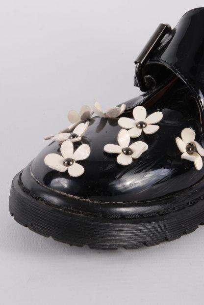 ASOS Black Patent Flower Decal Shoes - Size 8 - Damage Detail