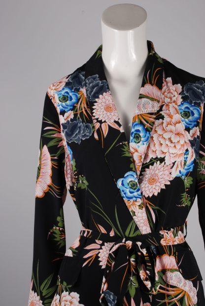 Boohoo Floral Belted Jacket - Size 10 - Front Detail