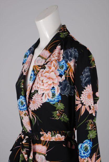 Boohoo Floral Belted Jacket - Size 10 - Side Detail