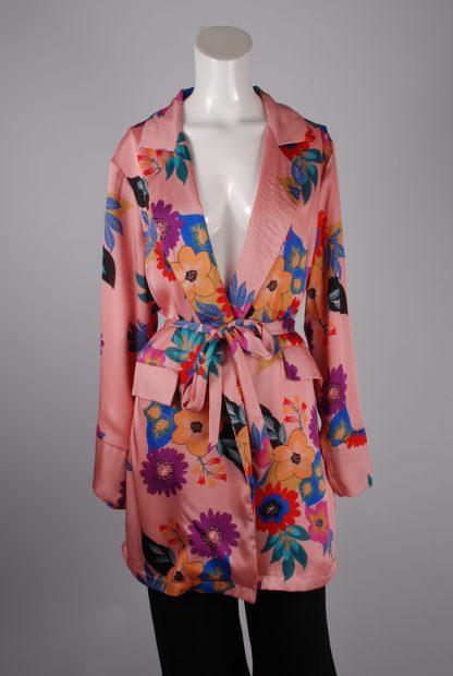Glamorous Floral Kimono Jacket - Size 10 - Front