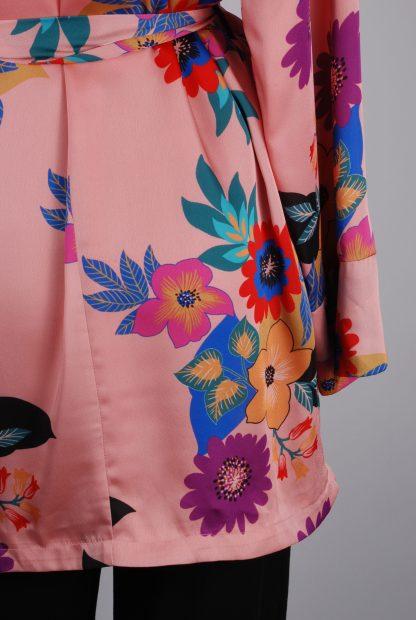 Glamorous Floral Kimono Jacket - Size 10 - Back Hem