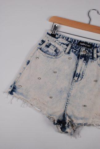 Zapp Acid Wash Denim Shorts - Size 10 - Front Detail