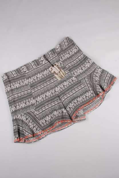 Alice & You Abstract Pattern Shorts - Size 18 - Front