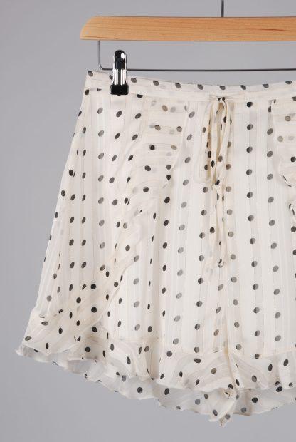 Boohoo Polka Dot Frilled Shorts - Size 10 - Front Detail