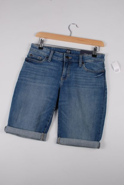 GAP Mid Thigh Denim Shorts - Size 4 - Front