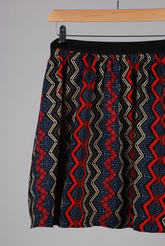Poppy Lux Patterned Mini Skirt - Size 14 - Front Detail