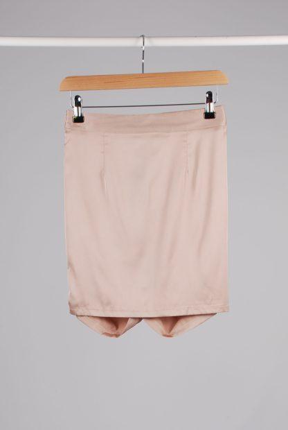 Misspap Ruched Back Mini Skirt - Size 8 - Back