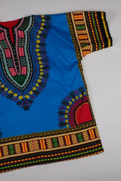 Blue Abstract Pattern Oversized Top - Size L - Back