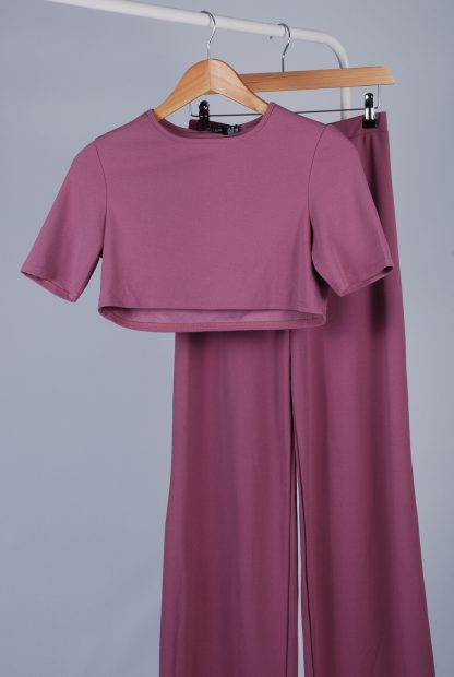 Nasty Gal Purple 2 Piece Co-Ord - Size 10 - Front Detail