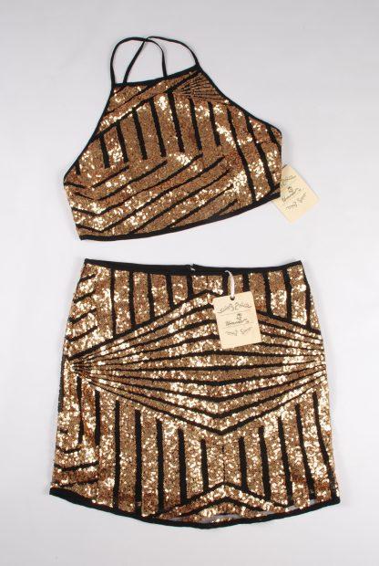 Urmoda Gold Sequin Co-Ord - Size M - Front