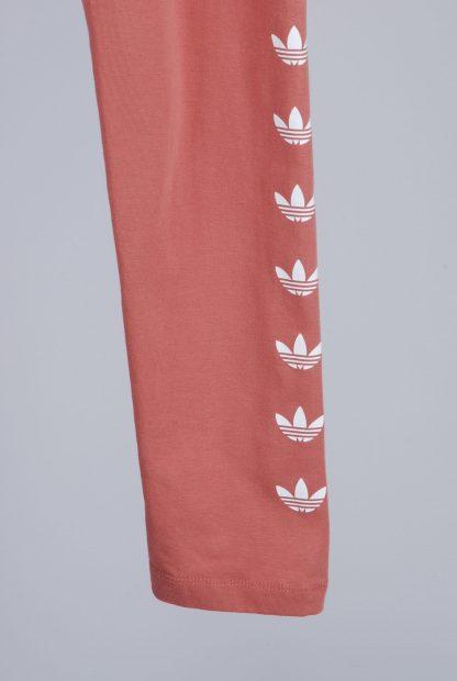 Adidas Pink Jersey Leggings - Size 10 - Leg Detail