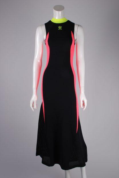 Adidas Mesh Panel Maxi Dress - Size 8 - Front