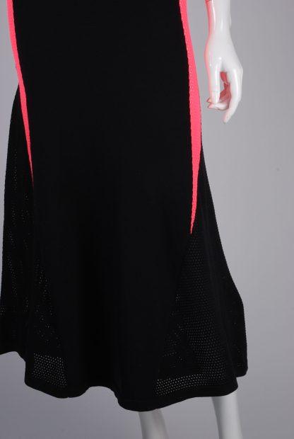 Adidas Mesh Panel Maxi Dress - Size 8 - Front Hem Detail