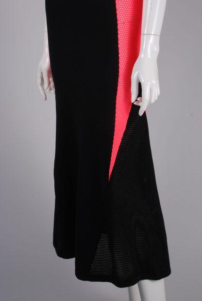 Adidas Mesh Panel Maxi Dress - Size 8 - Side Hem Detail