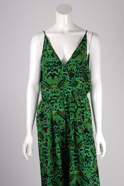 H&M Conscious Green Patterned Jumpsuit - Size 12 - Front Detail
