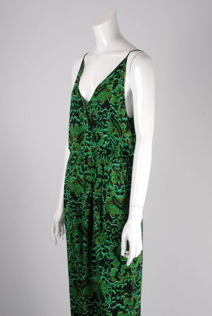 H&M Conscious Green Patterned Jumpsuit - Size 12 - Side Detail