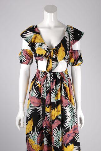 Boohoo Jungle Print Maxi Dress - Size 10 - Front Detail