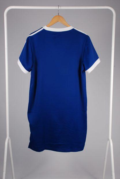 Adidas Blue Mini T-Shirt Dress - Size 12 - Back