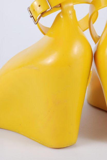 Melissa For Alexandre Herchcovitch Yellow Wedges - Size 6 - Back Detail