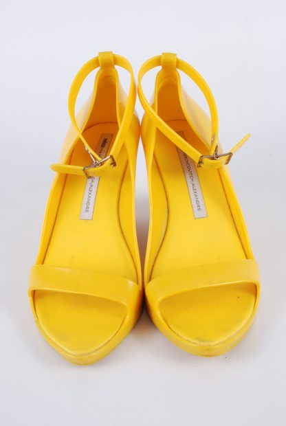 Melissa For Alexandre Herchcovitch Yellow Wedges - Size 6 - Top