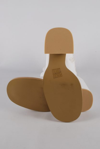 Koi White Block Heel Sock Boots - Size 5 - Sole