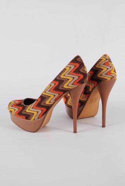 Moda In Pelle Lace Outer Heels - Size 7 - Side