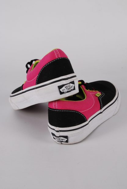 Vans Neon Pink & Green Trainers - Size 2 - Back
