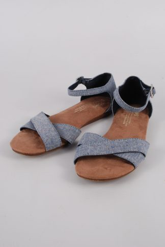 Toms Blue Crossover Sandals - Size 3 - Front