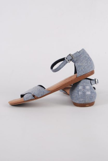 Toms Blue Crossover Sandals - Size 3 - Side