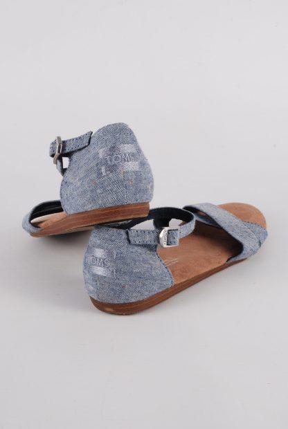 Toms Blue Crossover Sandals - Size 3 - Back