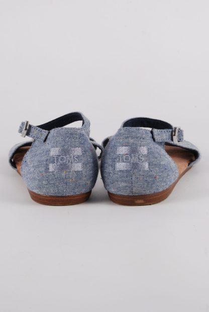 Toms Blue Crossover Sandals - Size 3 - Back Detail