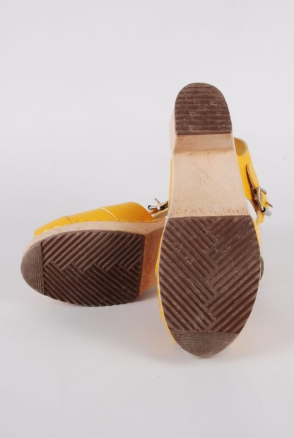 Lotta From Stockholm Yellow Clog Sandals - Size 6 - Sole