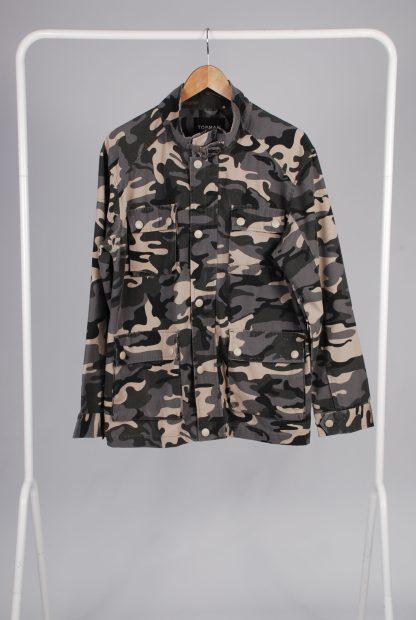 Topman Grey Camo Jacket - Size M - Front