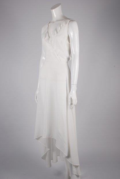 AX Paris White Plunge Maxi Dress - Size 8 - Side
