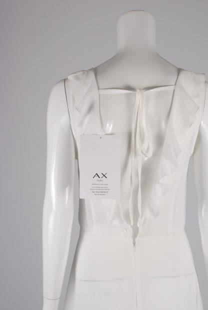 AX Paris White Plunge Maxi Dress - Size 8 - Back Detail