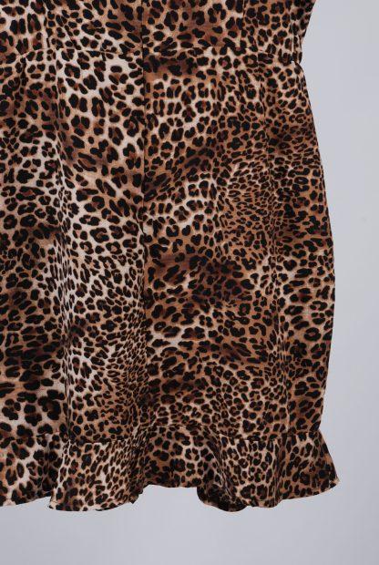 Boohoo Animal Print Strappy Mini Dress - Size 14 - Back Hem