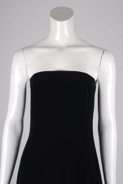 Jasper Conran Black Sleeveless Dress - Size 12 - Front Detail